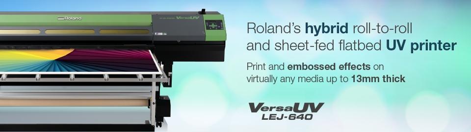 Roland Versauv Lej 640 Uv Flatbed Inkjet Printer