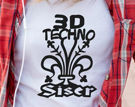 3D Techno Heat Transfer Vinyl