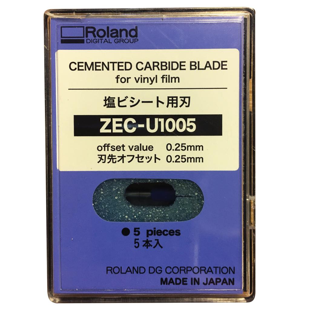 Roland Cemented Carbide Blade Zec U1005 For Vinyl Pack Of