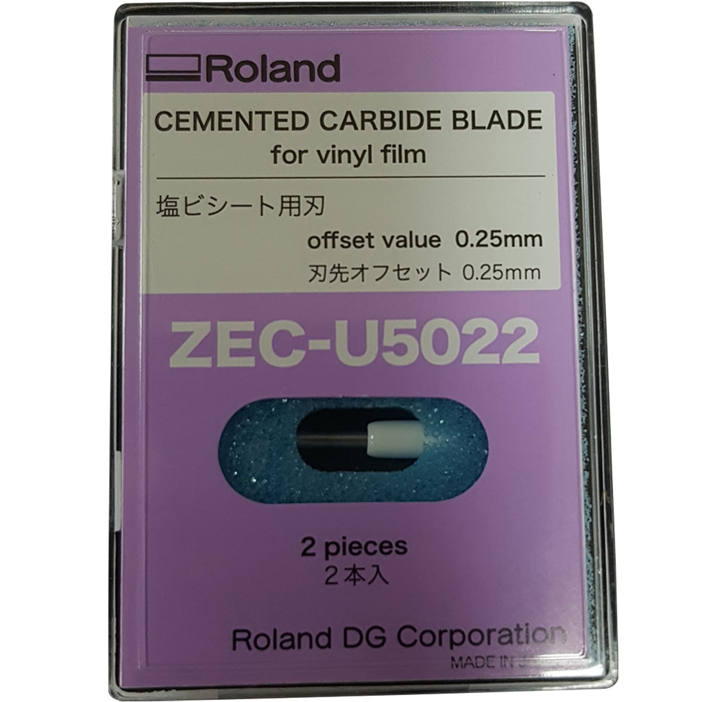 Roland Cemented Carbide Blade ZEC-U5022 for fluorescent/reflective/vinyl (Pack of 2)