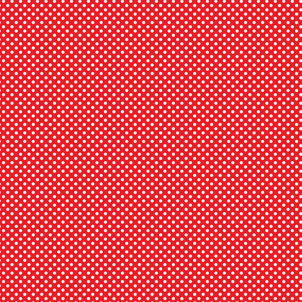 500-EasyPattern Polka Dots White/Red 456mm x 1 Metre