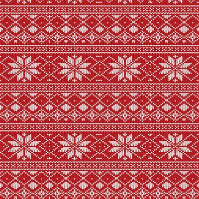 500-EasyPattern Christmas Sweater Red 456mm x 1 Metre