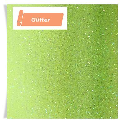 A4 Sheet Siser Glitter Neon Yellow