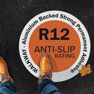 54-WALKWAY 2 in 1 Anti-Slip R12 Outdoor Film Aluminium Backed Strong Permanent Adhesive 1370mm x 30m