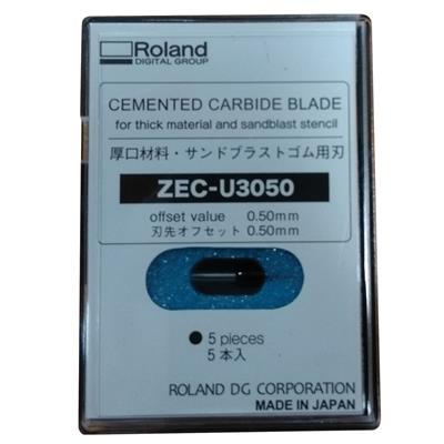 Roland Cemented Carbide Blade for thick material ZEC-U3050 and sandblast  stencil (Pack of 5)