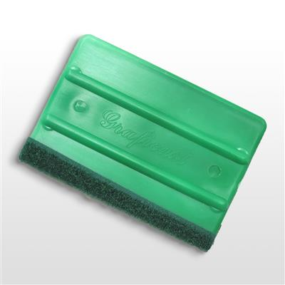 Grafitack squeegee with velcro strip